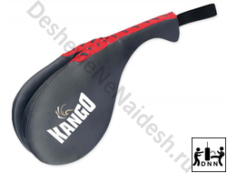 Ракетка для тхэквондо двойная Kango TRK-002 Black/Red PU