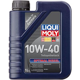 МАСЛО МОТОРНОЕ LIQUI MOLY HC-СИНТ.OPTIMAL DIESEL 10W40 1Л. П/СИН. КОД 3933