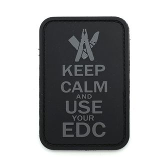 Патч Keep calm and EDC ПВХ (7,5 х 5 см)