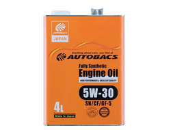 Масло моторное AUTOBACS ENGINE OIL FS 5W-30 4л A01508401