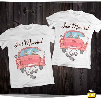 "Футболки ""Just married"" 002"
