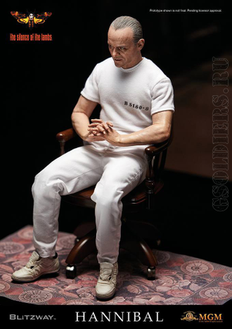 Ганнибал Лектер - Коллекционная фигурка 1/6 Hannibal Lecter White Prison Uniform