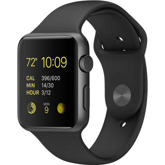 Apple Watch Series 1 42mm Space Gray Aluminium with Black Sport Band
