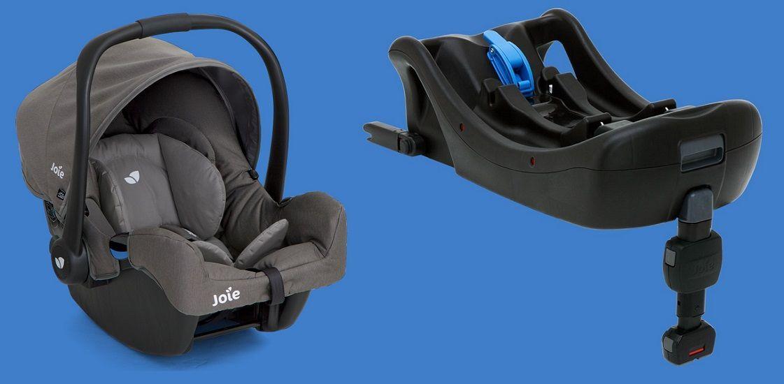 Isofix-платформа Joie i-Base База устанавливается в автомобиль с помощью креплений Isofix