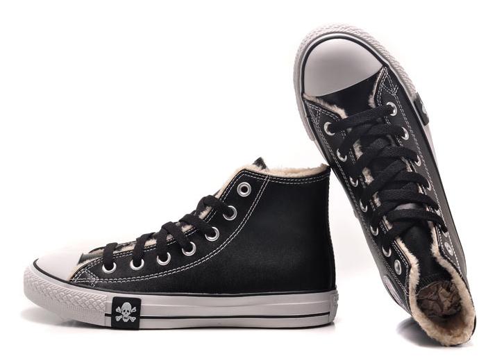 Купить кеды Converse All Star зимние черные с мехом в интернет ... 171e0a2a1bd