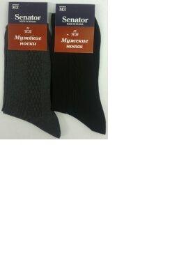 Сенатор носки мужские М-3 хлопок черные, 10 пар (1 упаковка)