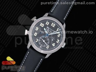 Calatrava 5524G Pilot Travel Time GRF Black Dial