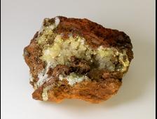 Адамин кристаллы на породе (лимонит), Мексика (47*41*22 мм, 55 г) №20780