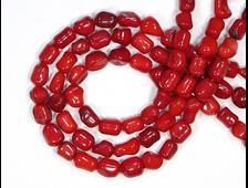 Бусины Коралл красный, 8*5 мм, цена за 1 нить около 45 см, 58 шт. (вес 25 г) №18937