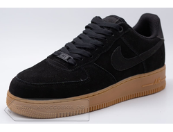Кроссовки Nike Air Force 1 Low Black Suede Pack мужские арт. N723