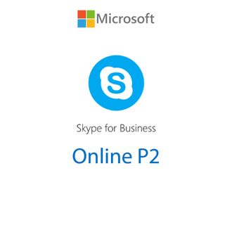 Microsoft Skype for Business Online P2 Open Shared Server SNGL Subscription VL OLP NL Annual Qualifi