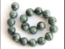 Бусина Берилл зеленый (изумруд), шар 11 мм (1 шт) №16028