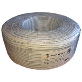 Кабель коаксиальный внутренний, КВК-В-2x0,5 мм, белый, 200 метров