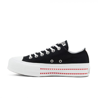 Кеды Converse All Star Love Fearlessly Platform Черные низкие