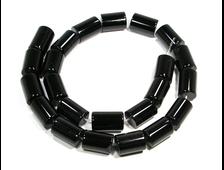 Бусины Агат черный, Бразилия, цилиндр 14*10 мм (1 шт) №20270