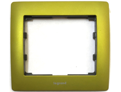 Legrand 771921, Рамка 1 пост, Metal Magic Green