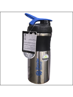 ШЕЙКЕР BLENDDERBOTTLE SPORT MIXER STAINLESS 28 OZ BLACK\CYAN