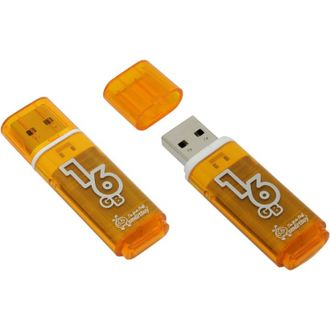 Флешка (флэш) SmartBuy USB flash drive 16GB Glossy series (оранжевый)
