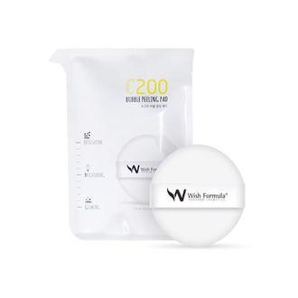 Wish Formula C200 Bubble Peeling Pad - Спонж-пилинг для лица с витамином С