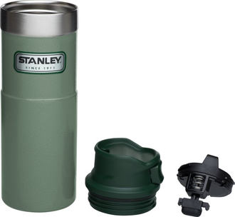 Термокружка Stanley Classic Trigger Action One Hand 0,47L зеленая