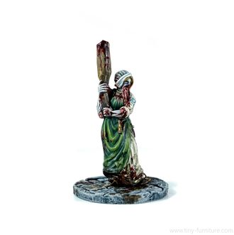 Zombie Peasant Girl (PAINTED)