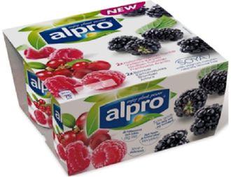 Алпро Йогурт соевый Ежевика / Малина-клюква ALPRO , 4х125гр