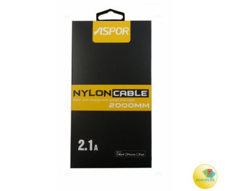 USB кабель Aspor А128 Nylon Series iPhone 5/6 (2м)