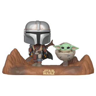 Купить Фигурка Funko POP! Bobble: Star Wars: Mandalorian: Moment: Mandalorian & Child 49930