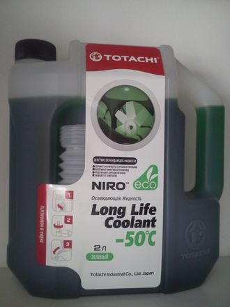 Антифриз TOTACHI NIRO -50 зеленый 2л