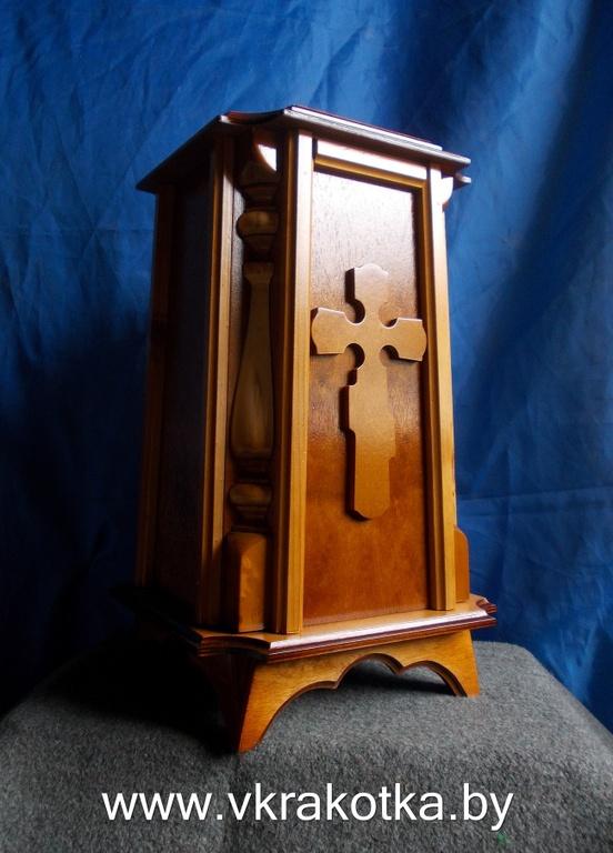 Ящик для сбора средств из дерева