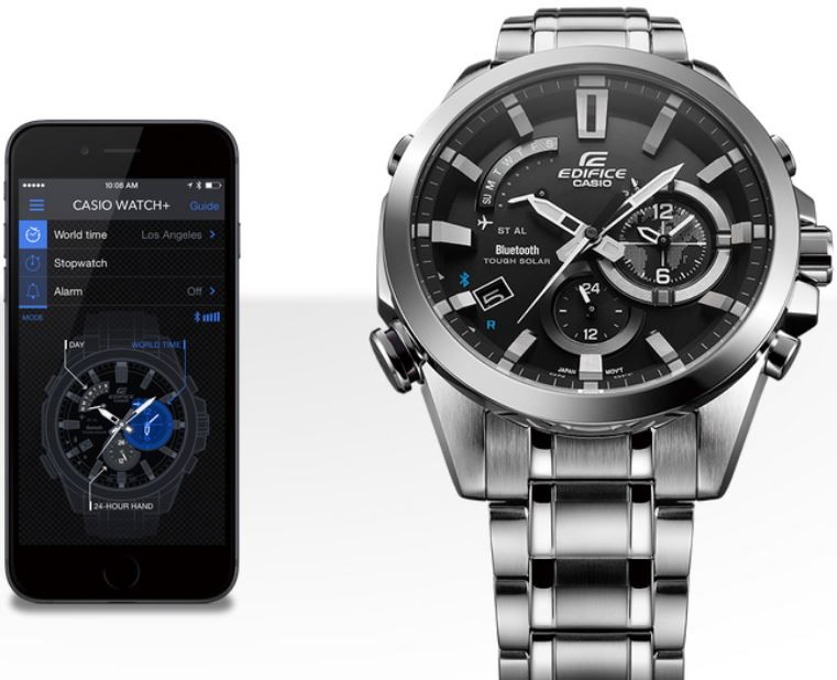 21aa3819d71b Мужские японские наручные часы Casio Edifice EQB-510D-1A купить в ...