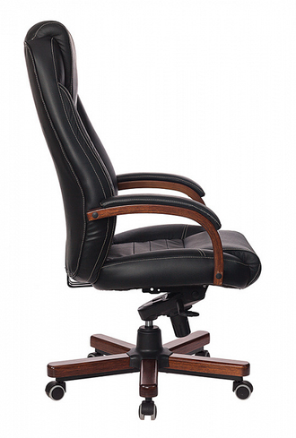 Кресло T-9923 WALNUT/BLACK (НАТ. КОЖА)