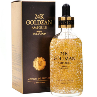 Сывортка для лица 24К Goldzan Ampoule 99.9% Pure Gold 30 ml (с частичками золота)