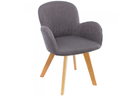 stul Asia wooden legs/grey fabric