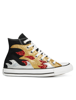Кеды Converse All Star Glitter Flame High Top высокие