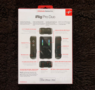 iRig Pro Duo Box Back