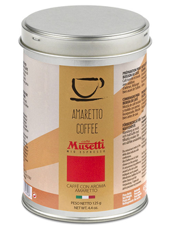 Кофе молотый Musetti Amaretto coffee 125 гр. (ж.б.)