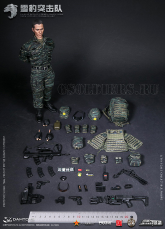 CHINESE PEOPLE'S ARMED POLICE FORCE SNOW LEOPARD COMMANDO UNIT TEAM MEMBER (78052) - DAMTOYS