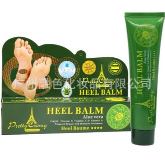 Крем для ног «анти-трещины» с алоэ и витаминами Pretty Cromy Heel Balm Aloe Vera CoQ10, Vitamin E, Vitamin A & Vitamin K Targeted Repair And Moisture Treatment