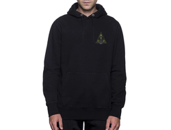 Толстовка HUF DISASTER OPS TRIANGLE ZIP HOODIE BLACK