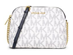 Сумка Michael Kors Cindy Large Dome MK Logo Crossbody (Белая)