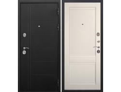 Стальная дверь 10 см ТРОЯ муар ЭШВАЙТ Царга