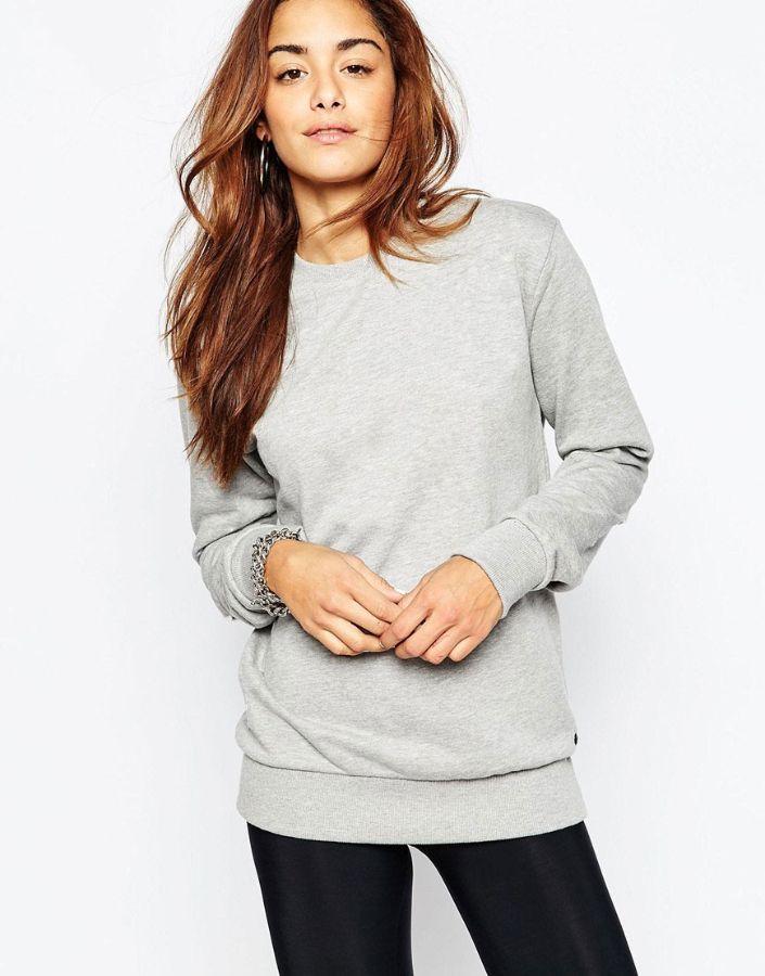 Свитшот женский серый меланж фото | Магазин толстовок Кофта