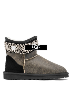 UGG JIMMY CHOO MULTICRYSTAL BOMBER BLACK