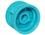 Wheel 30.4mm D. x 20mm with No Pin Holes and Reinforced Rim, Medium Azure (56145 / 6289608)