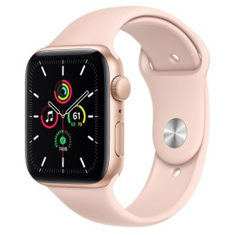 Apple Watch SE 44mm Gold with Pink Sport Band