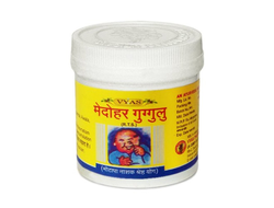 Медохар Гуггул для снижения веса (Medohar Guggulu) Vyas, 100 табл.