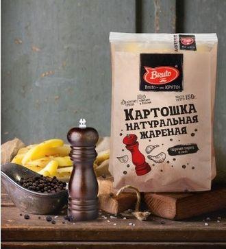 Чипсы БРУТО КРАФТ соль+перец 150 гр, 1 шт.