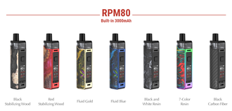 Набор SMOK RPM80 3000mAh Red Stabilizing Wood