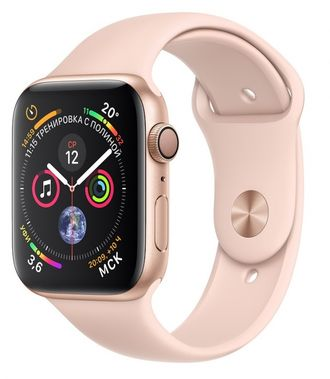 Apple Watch Series 4 44mm Gold with Pink Sport Band - под заказ 1-2 дня